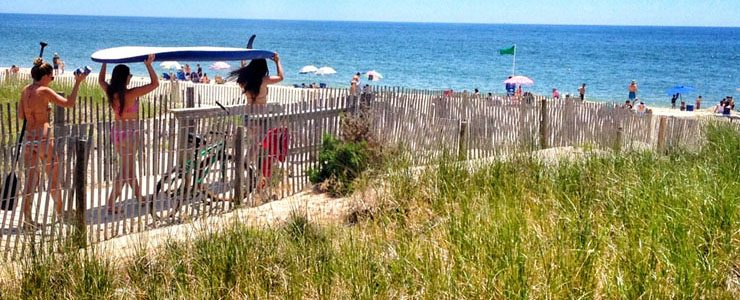 Scenes from Fire Island: Girls With Surfboards